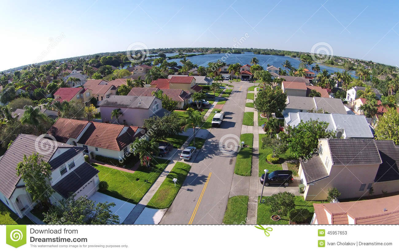 suburban homes in florida aerial view stock photo image 45957653 above aerial class florida homes