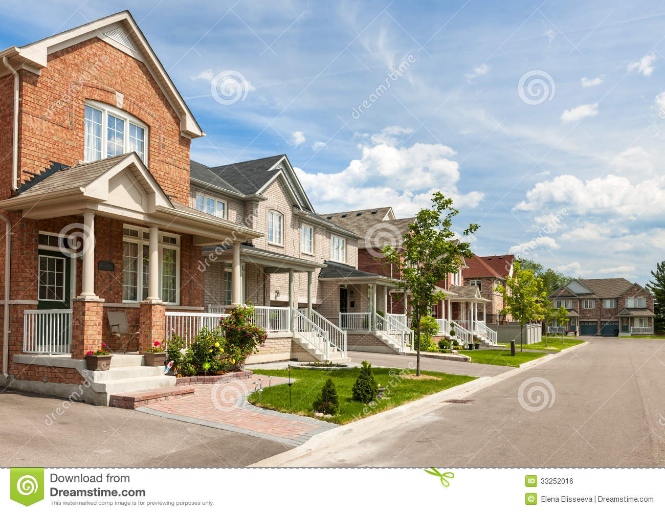 Suburban homes stock photo image of housing properties for Residential pictures