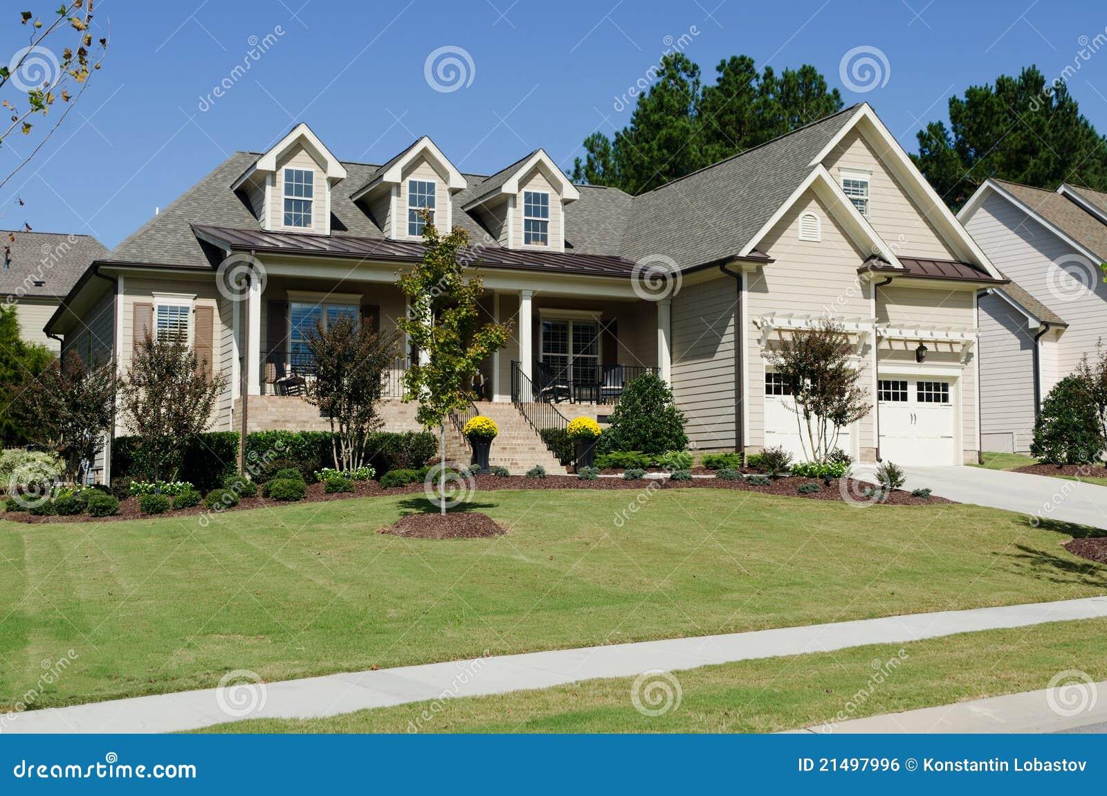 Suburban House Royalty Free Stock Image Image 21497996