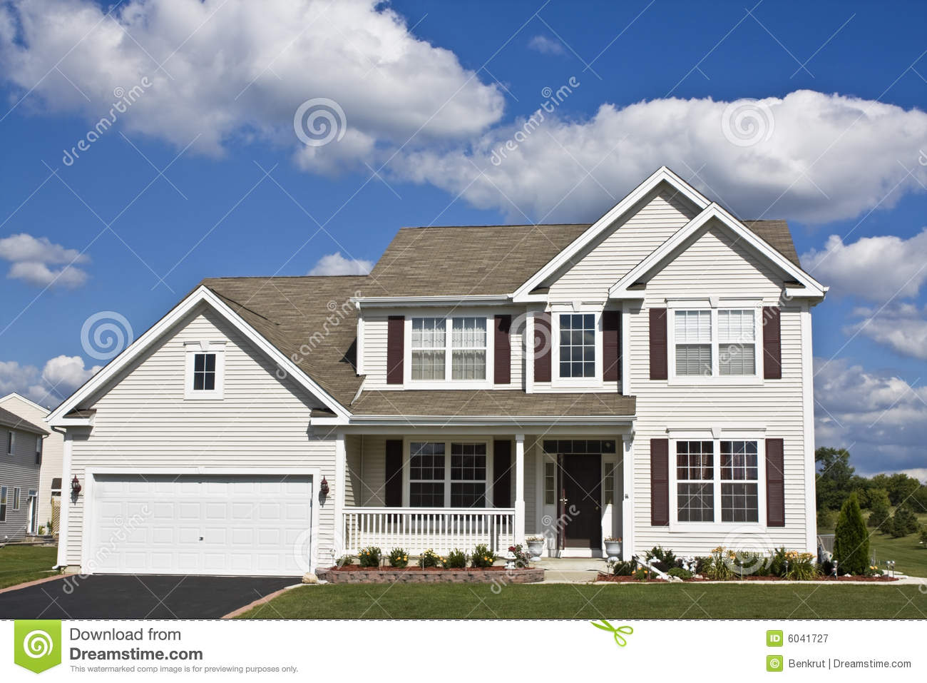 Suburban house stock image image of back front exterior for Free house photos