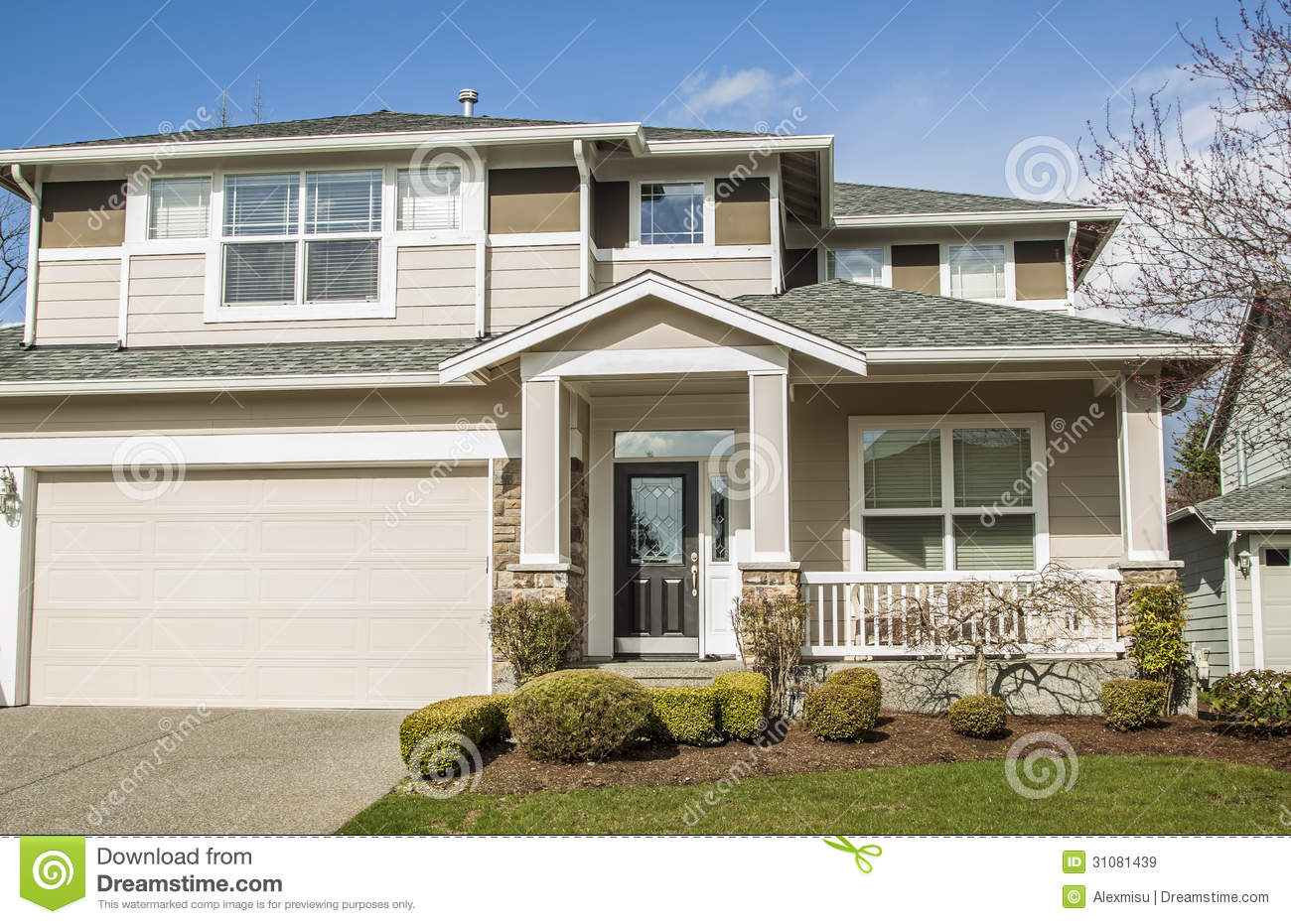 Suburban house royalty free stock images image 31081439 for Modern american houses