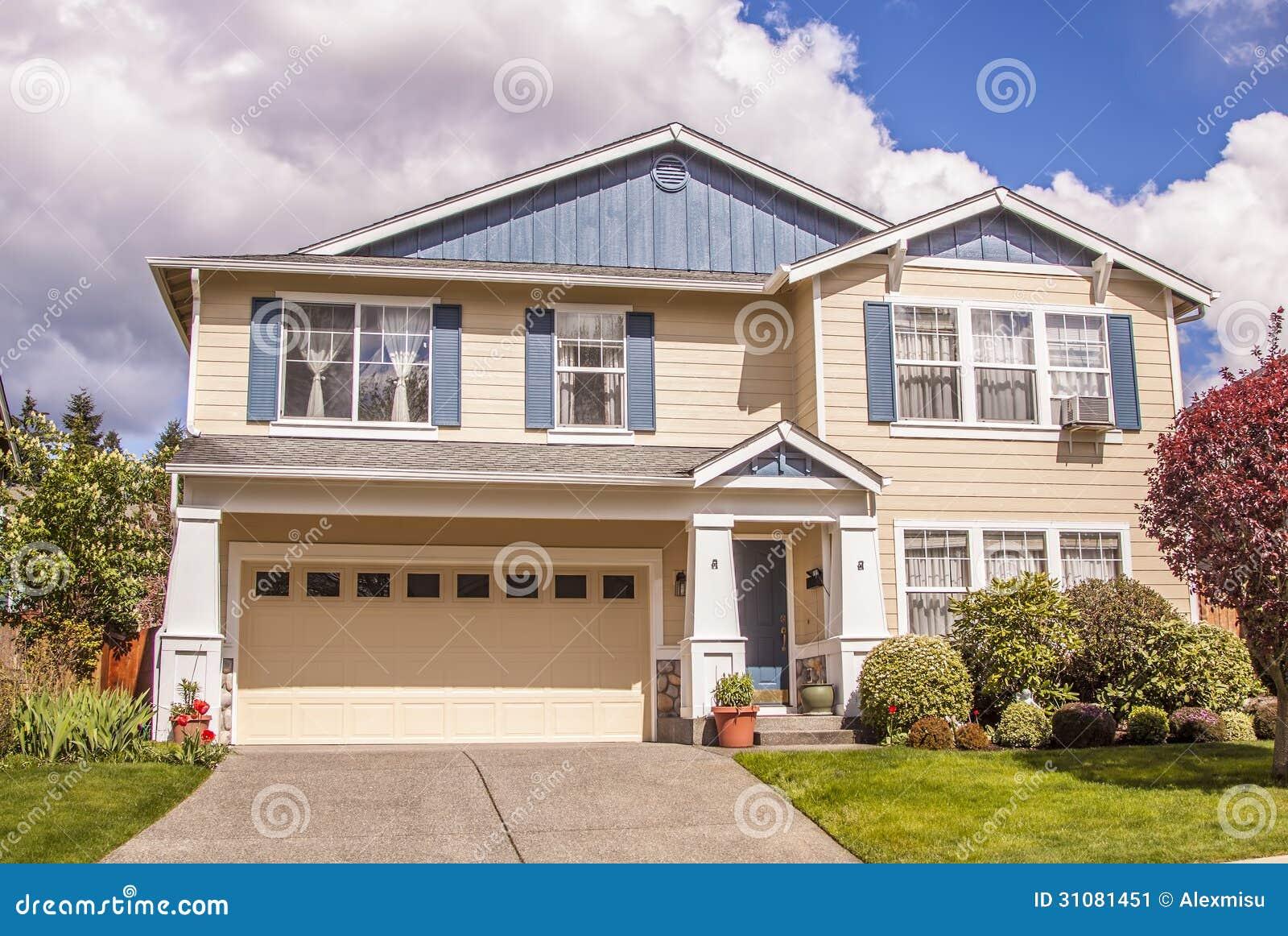 Suburban House Stock Image Image 31081451