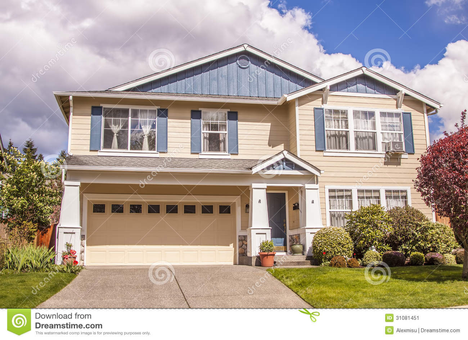 Suburban house stock image image 31081451 for Modern american houses