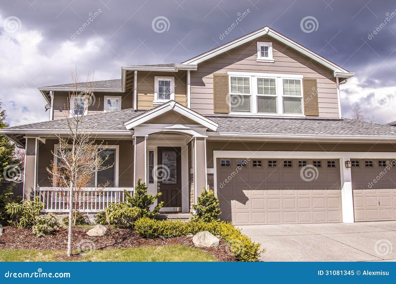 Suburban house royalty free stock photo image 31081345 for Suburban house plans