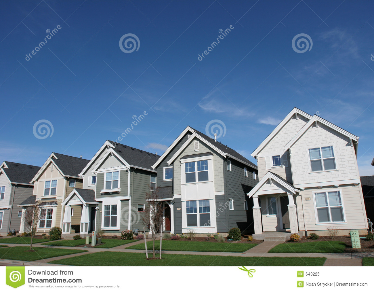 Suburban houses stock image image of house blue housing for Free house photos