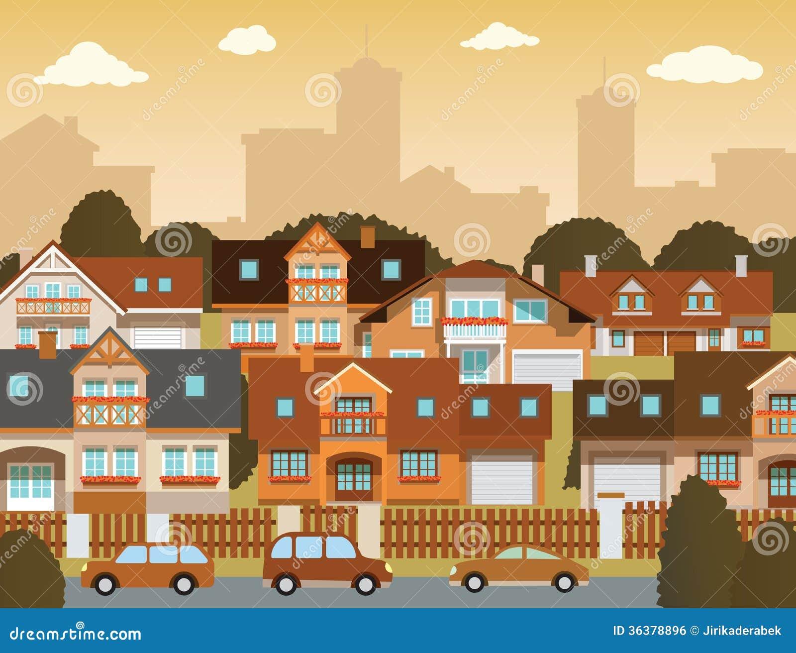 Suburban Houses Royalty Free Stock Image Image 36378896