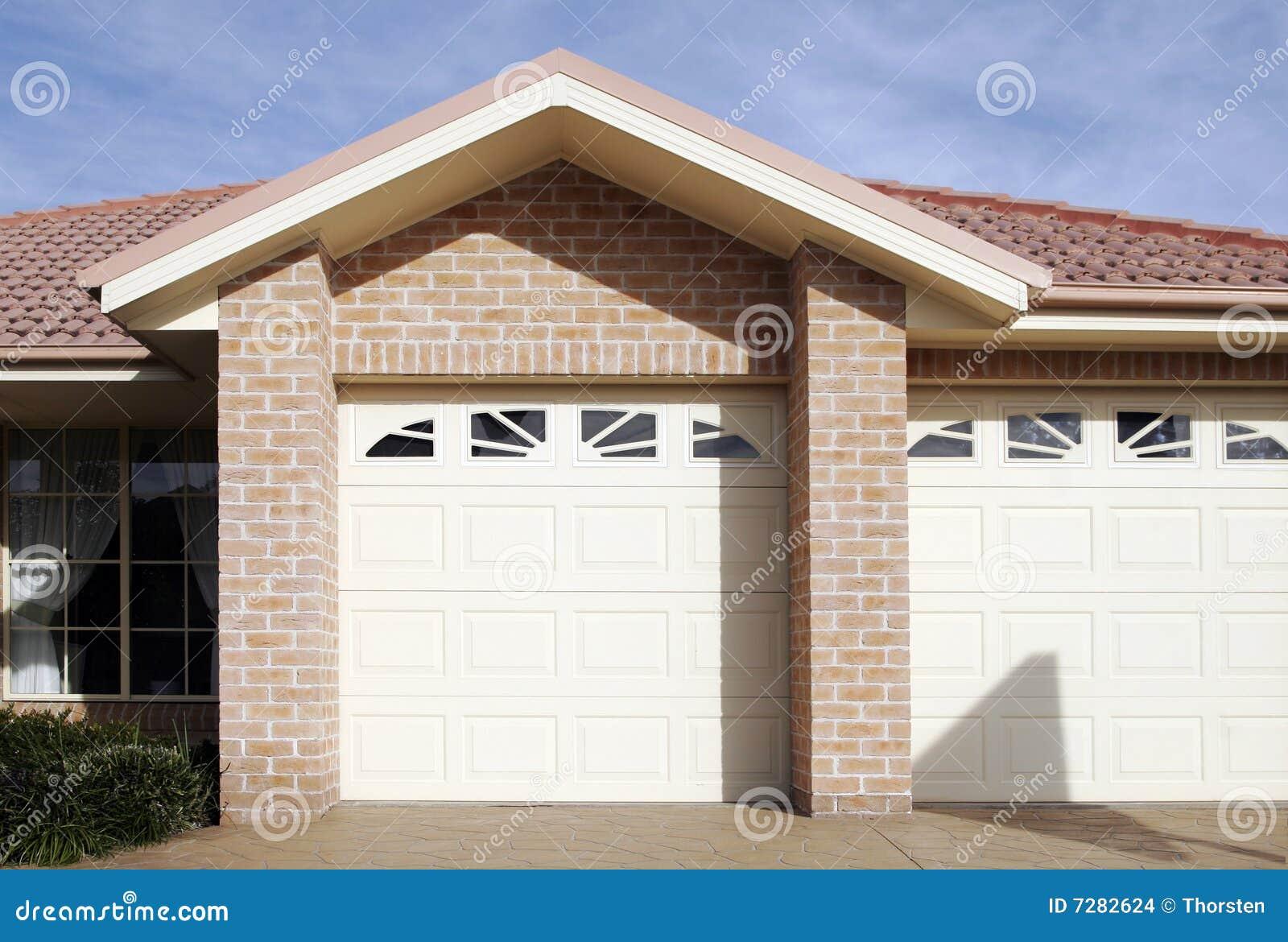 Suburban Town House Garage Door