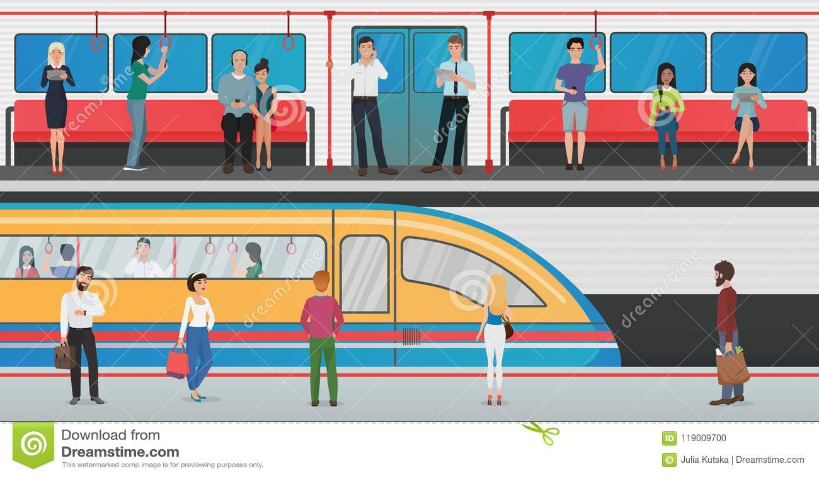 Train Underground Station Stock Illustrations – 2,004 ...