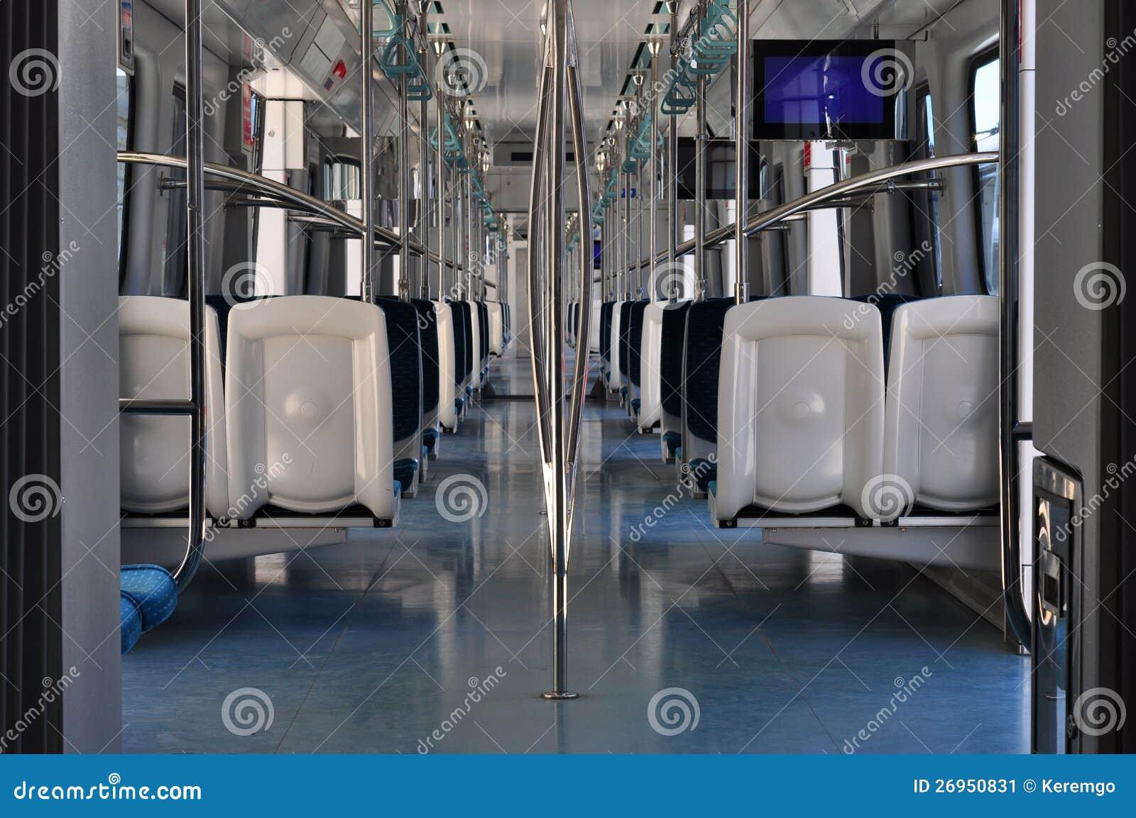 subway interior stock image image 26950831. Black Bedroom Furniture Sets. Home Design Ideas