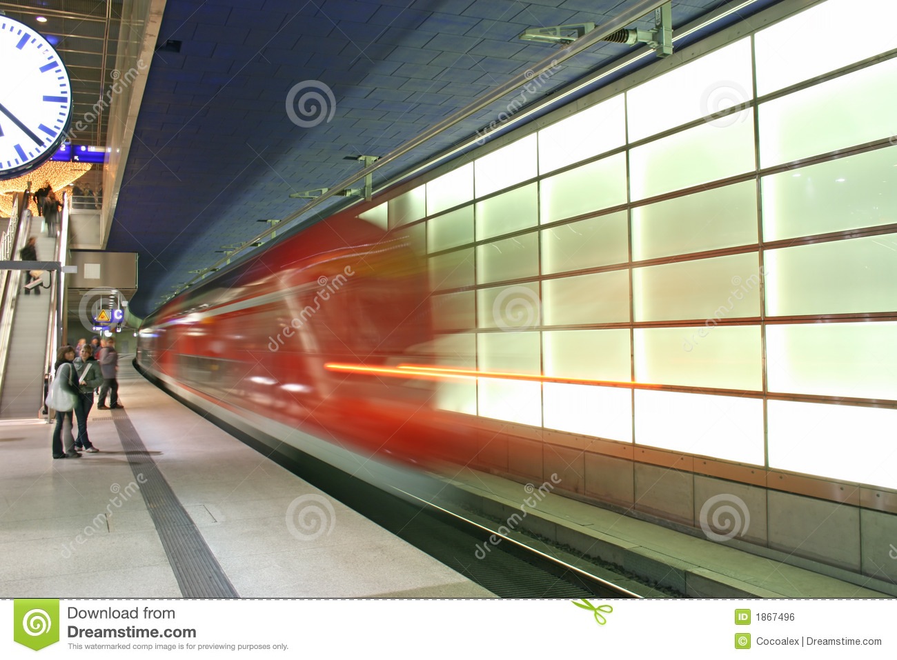 The subway in the Potsdamer Platz