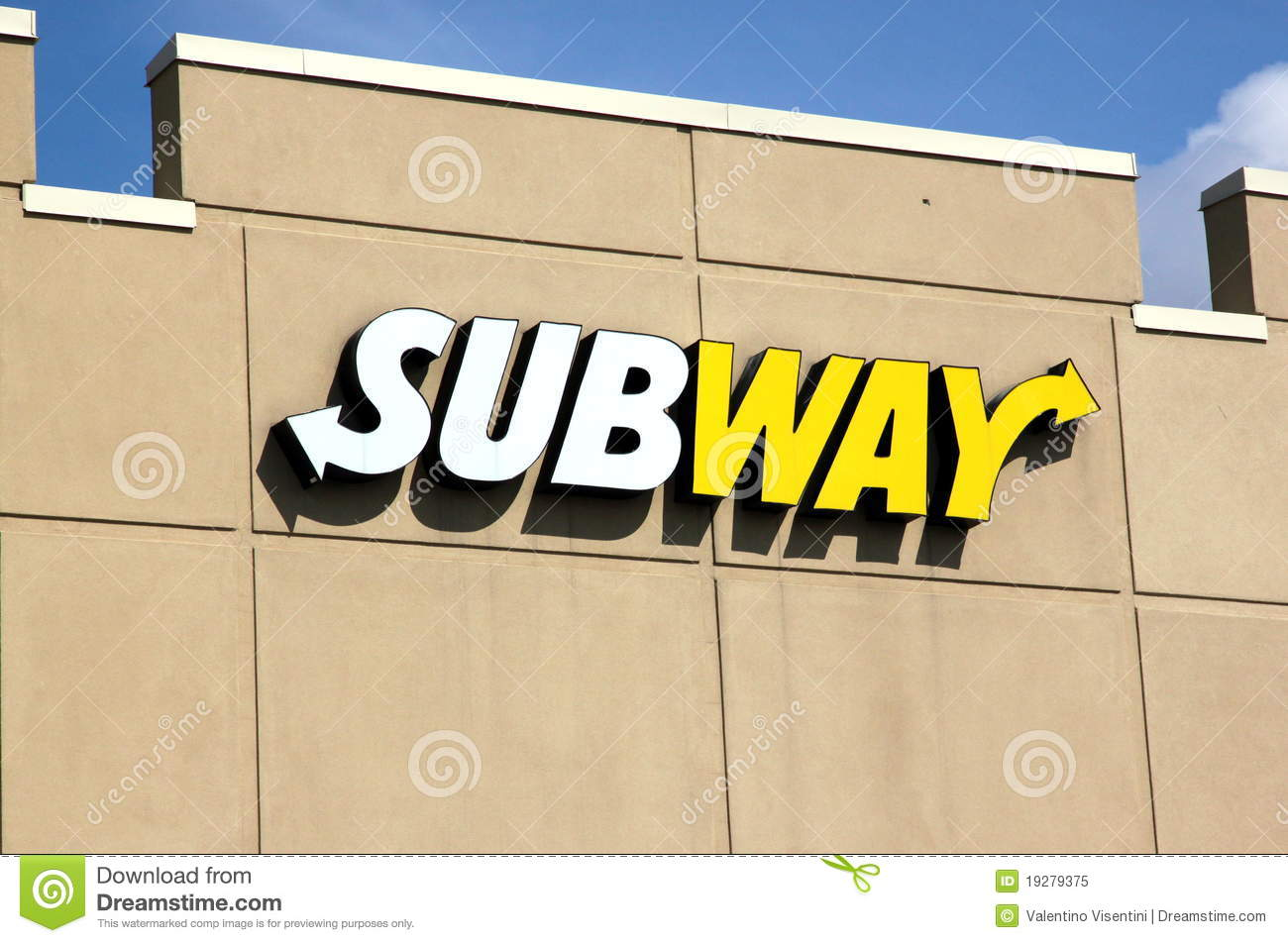 Subway Restaurant Sign editorial image. Image of food - 19279375