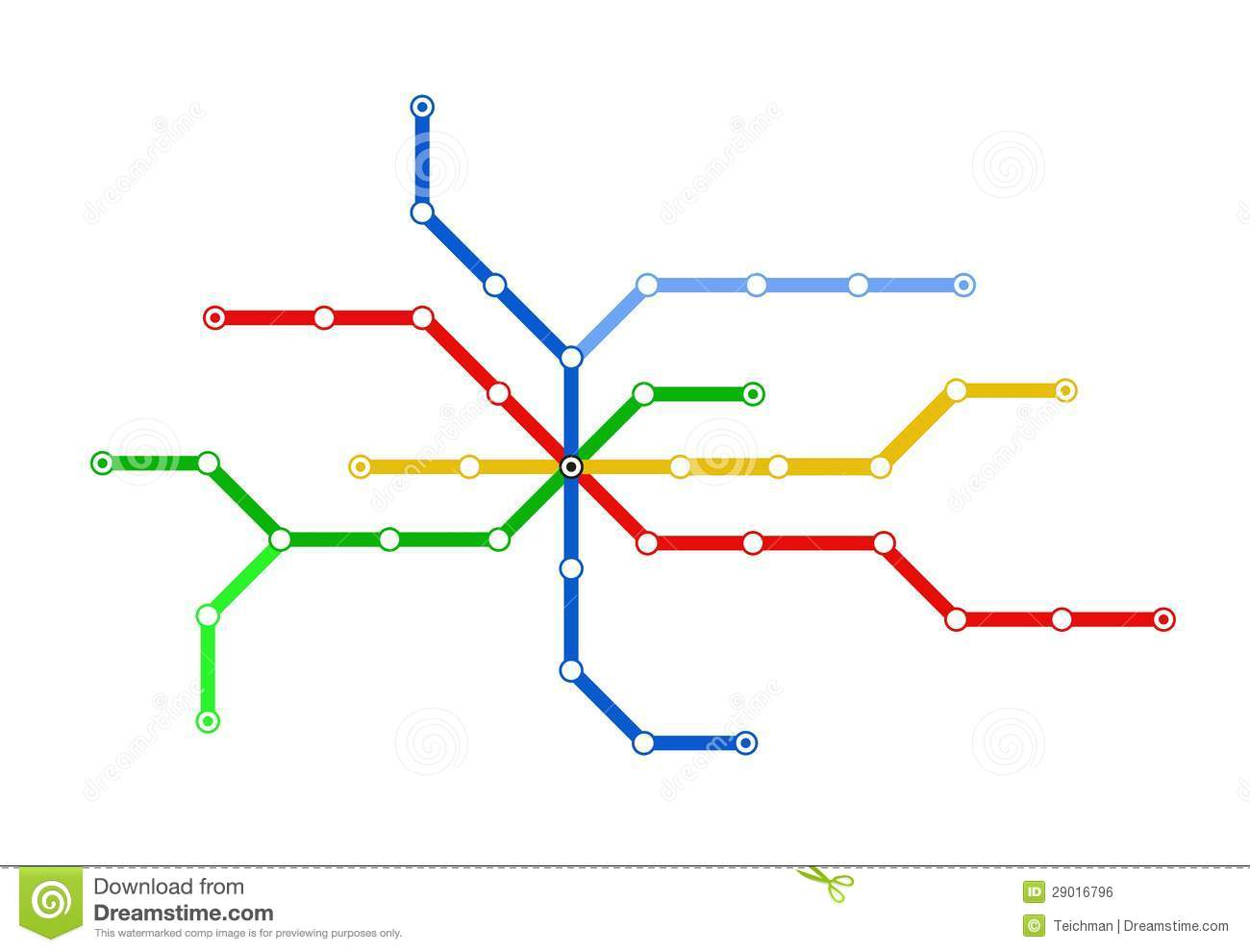 subway schematic map royalty free stock image
