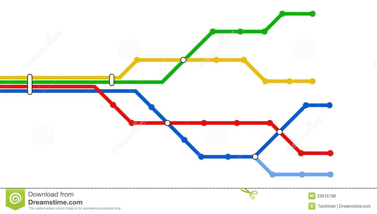 Subway Schematic Map Stock Vector  Image Of Line  Colorful