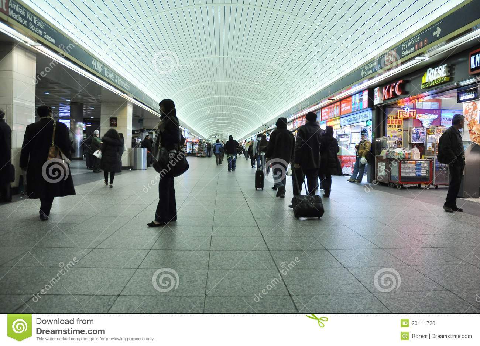 Subway Station Editorial Image Image 20111720