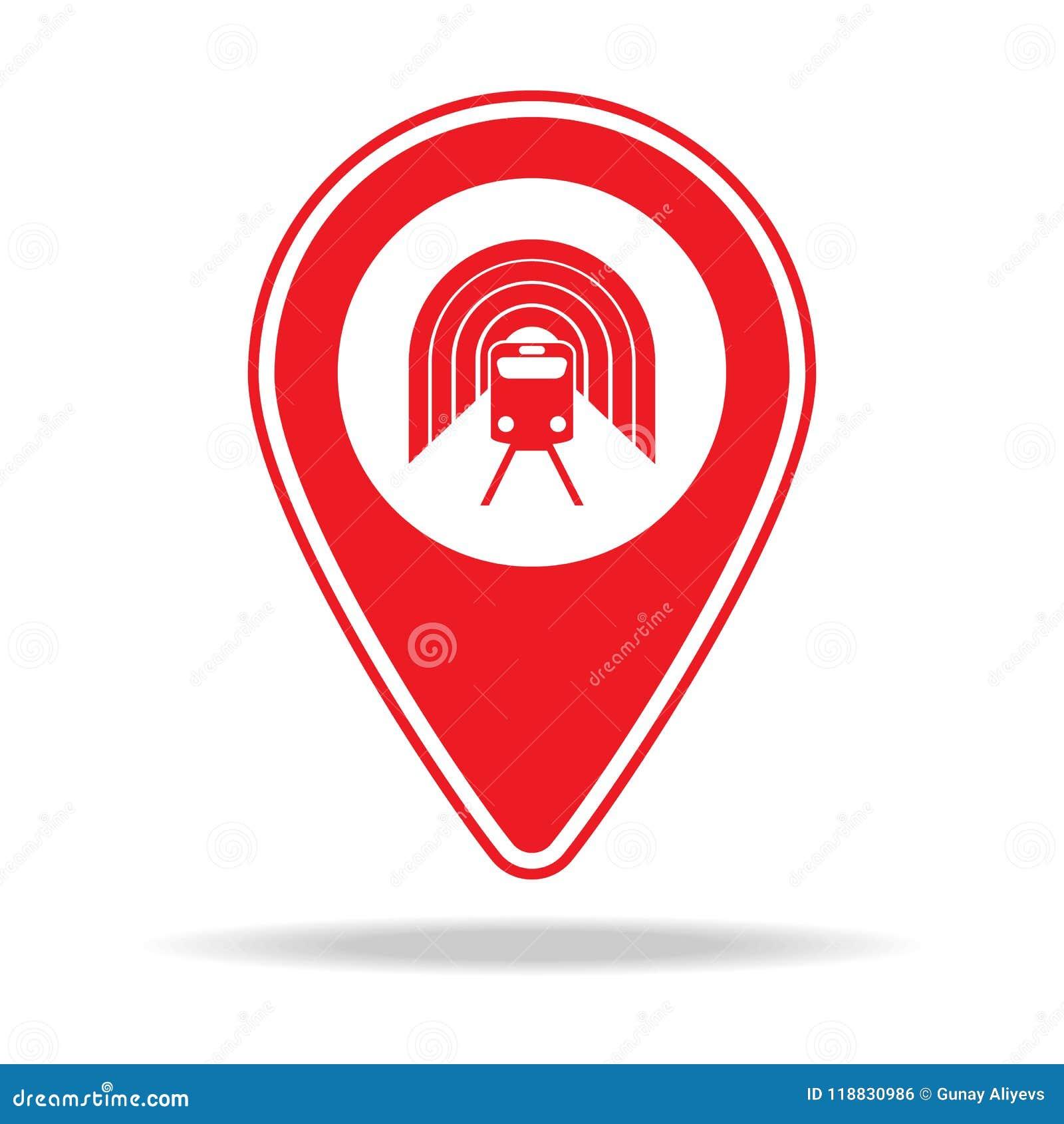Subway Map Sign.Subway Station Map Pin Icon Element Of Warning Navigation Pin Icon