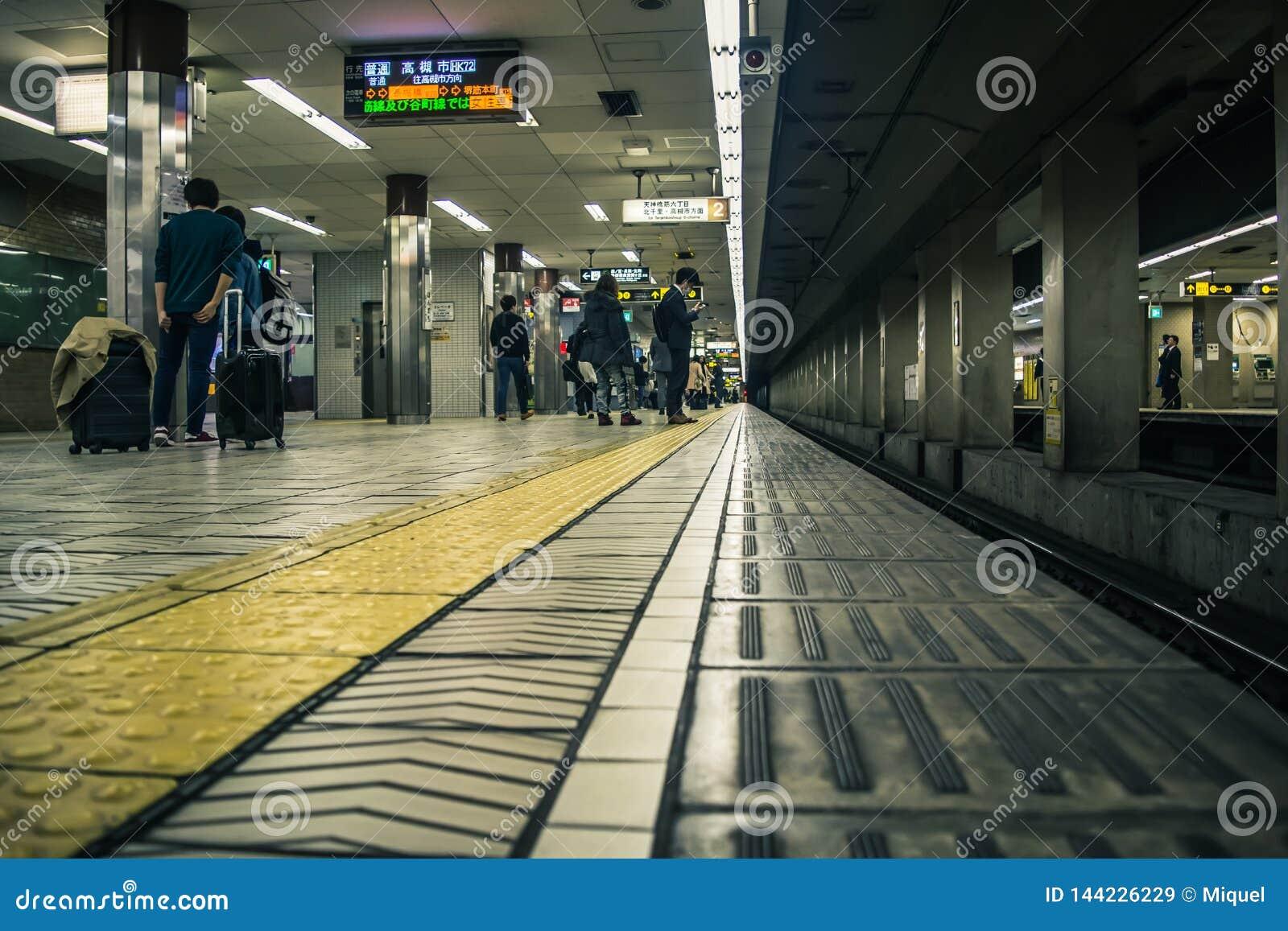 Subway station in Osaka, Japan