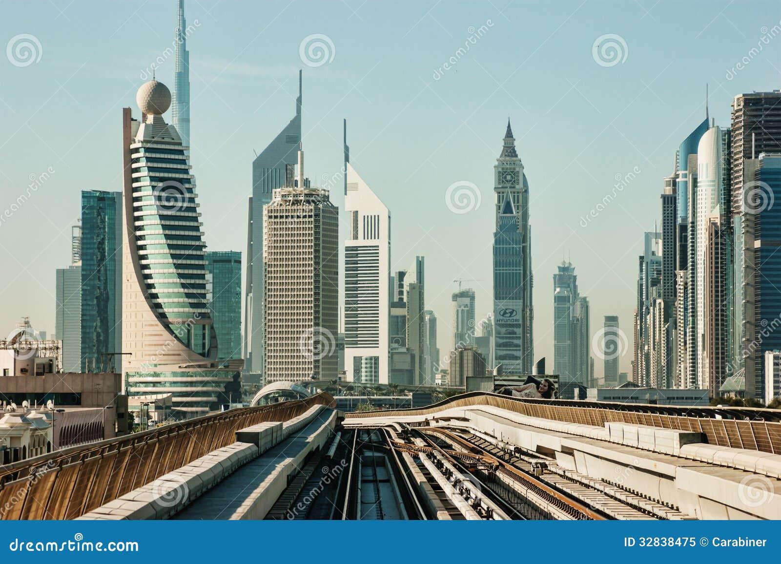 Subway Tracks In The United Arab Emirates Editorial Image