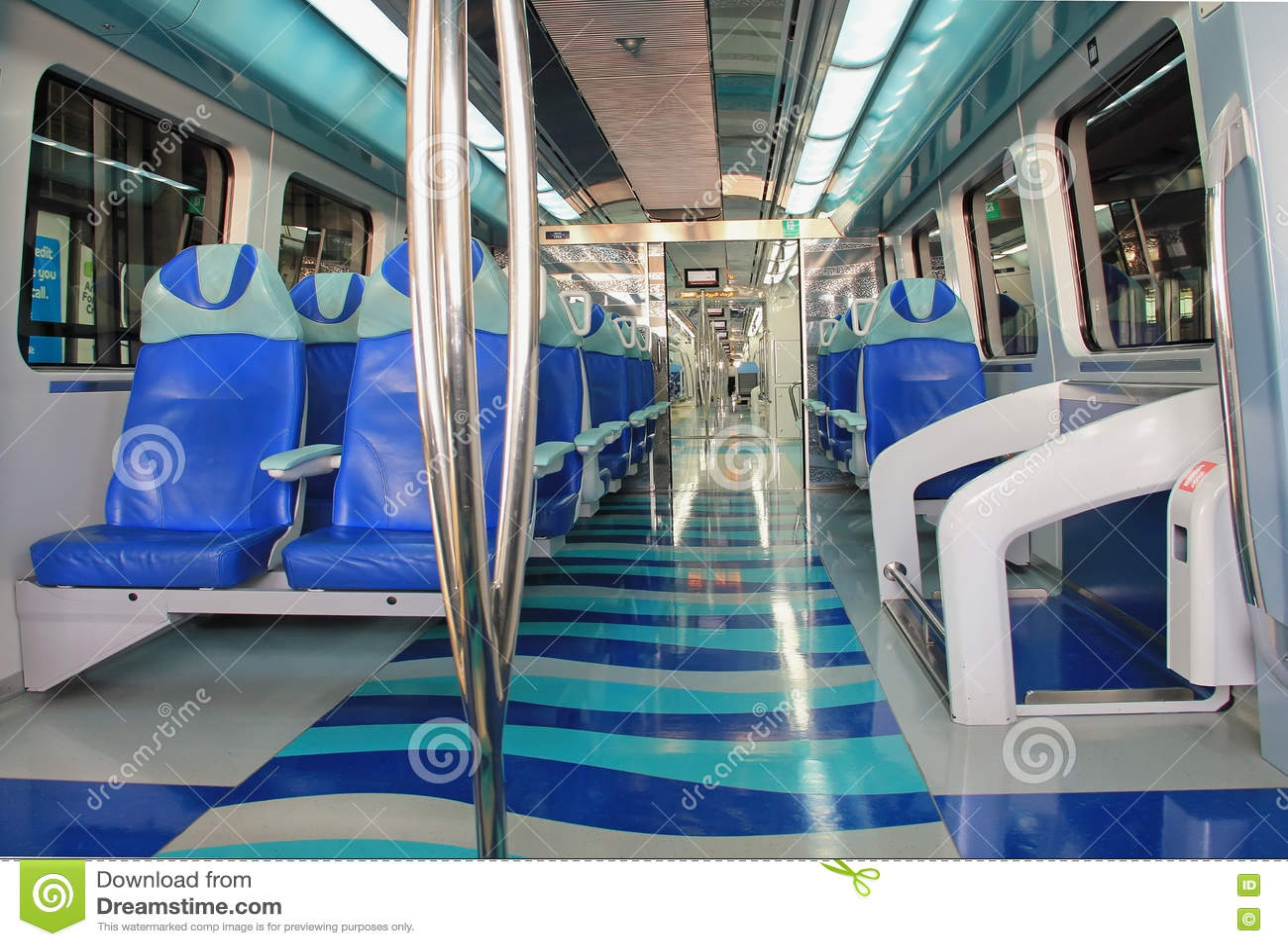 inside of an empty passenger train car stock image 22954819. Black Bedroom Furniture Sets. Home Design Ideas