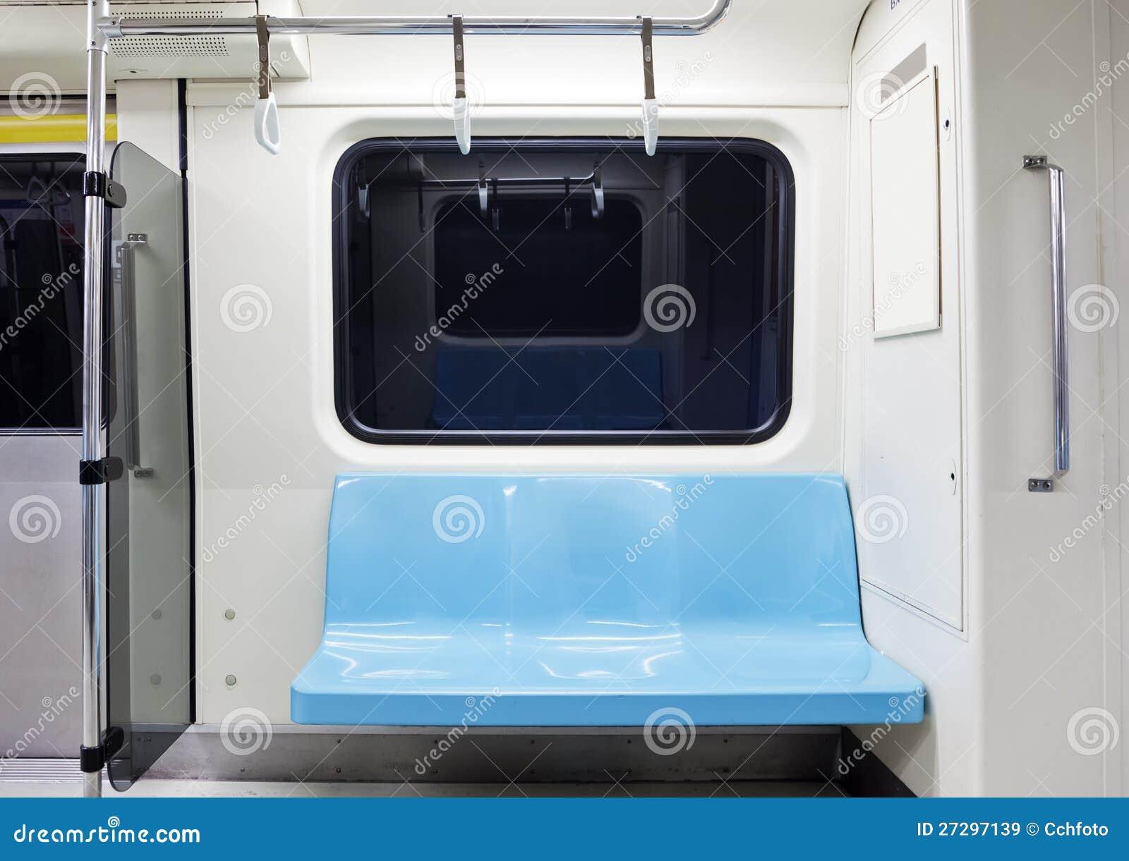 Subway Train Empty Seat Stock Image Image Of Grass Seat