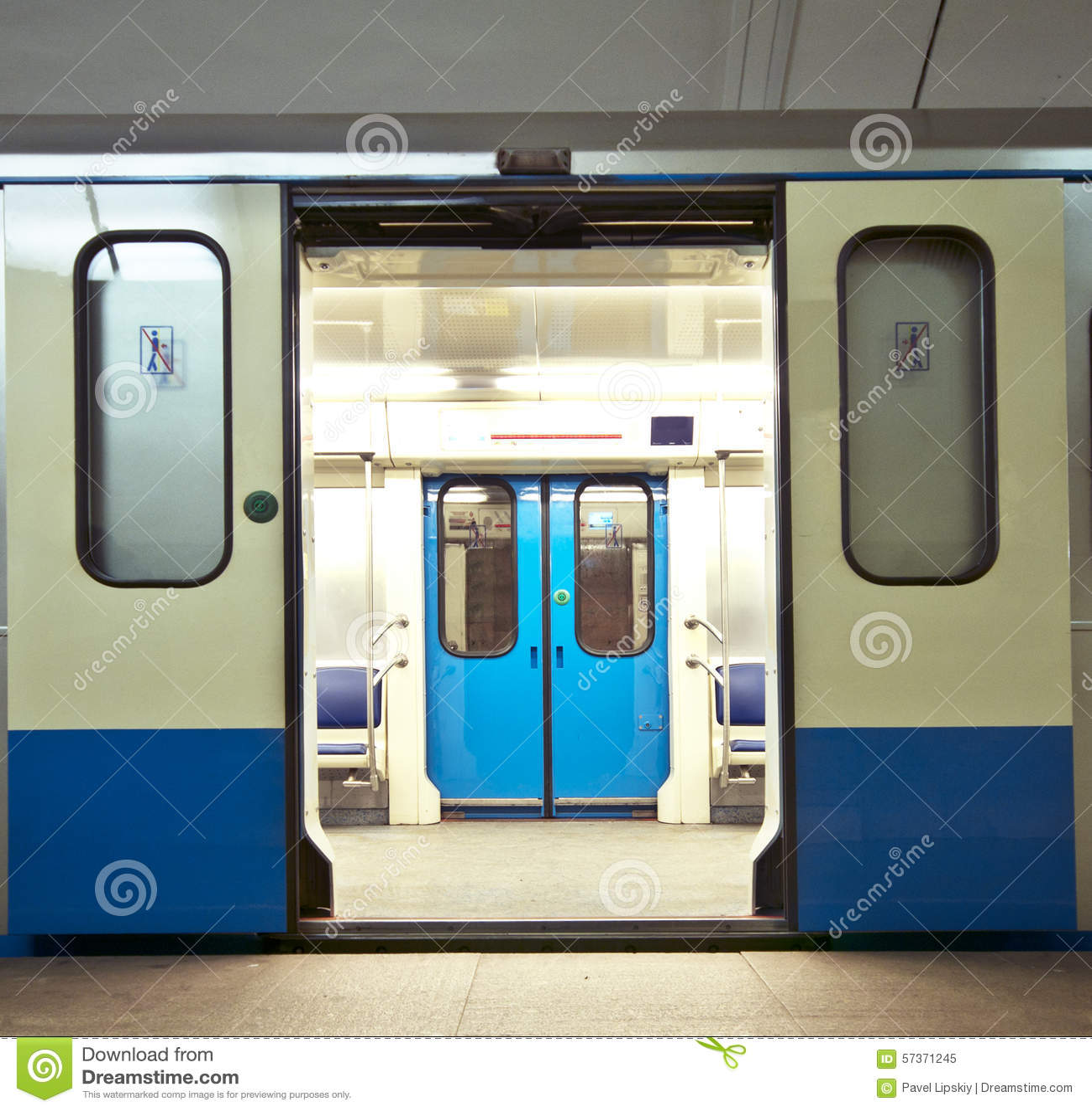 Royalty-Free Stock Photo & Subway train stock image. Image of doors subway hall - 57371245