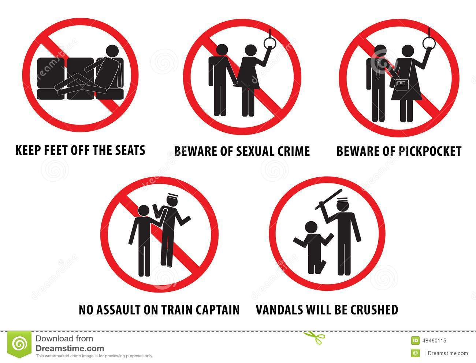 Subway train prohibit or bus prohibit signs for vandals isolated subway train prohibit or bus prohibit signs for vandals isolated easy to modify biocorpaavc Gallery
