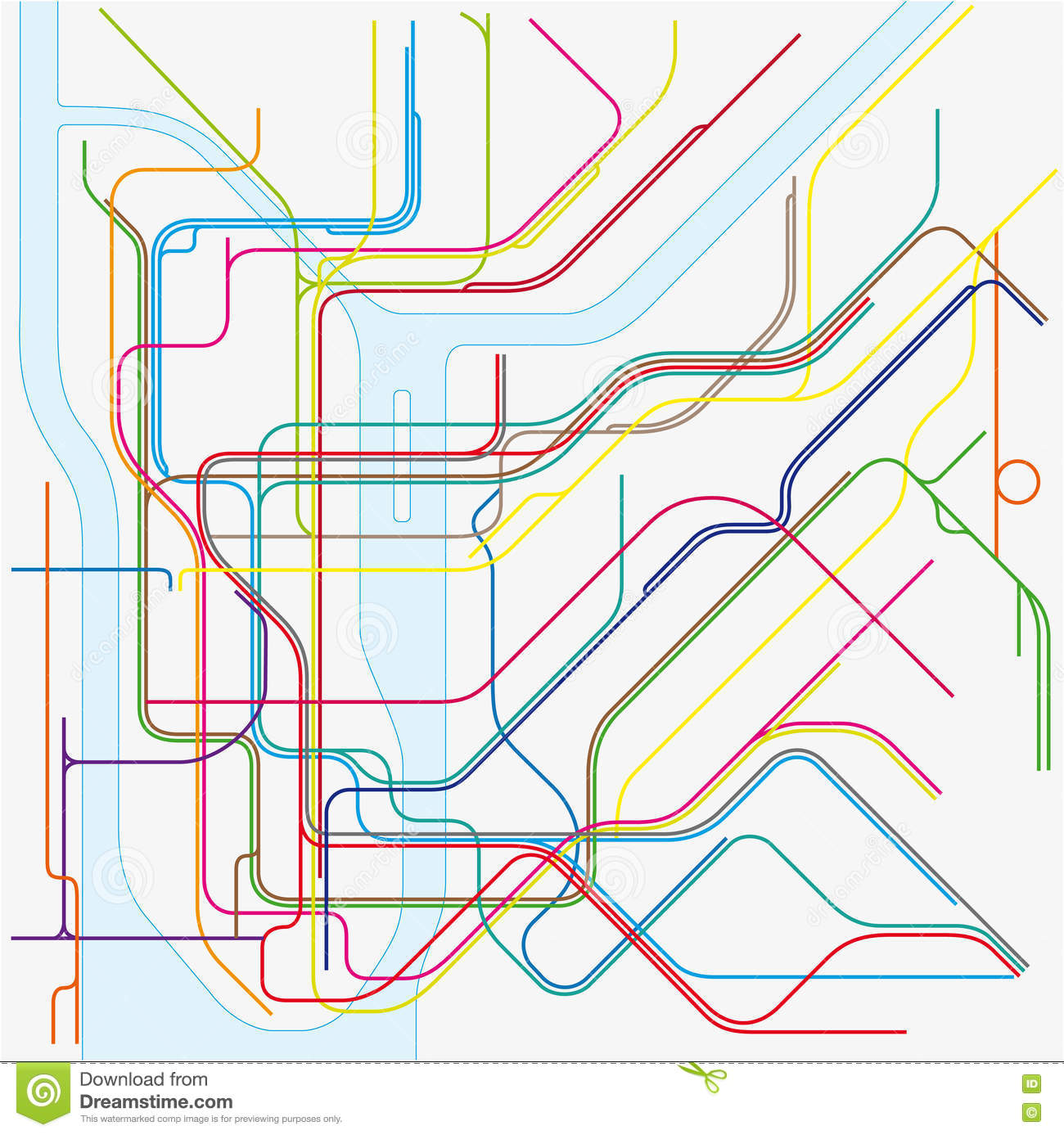 Download New York Subway Map.Subway Vector Map Of New York City Stock Illustration Illustration