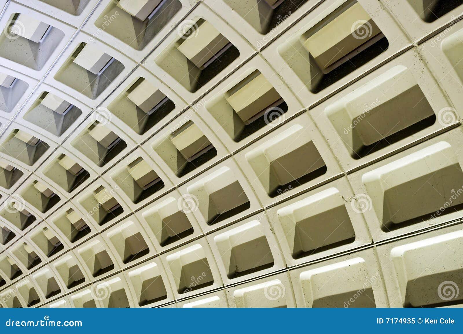 Subway wall Washington DC