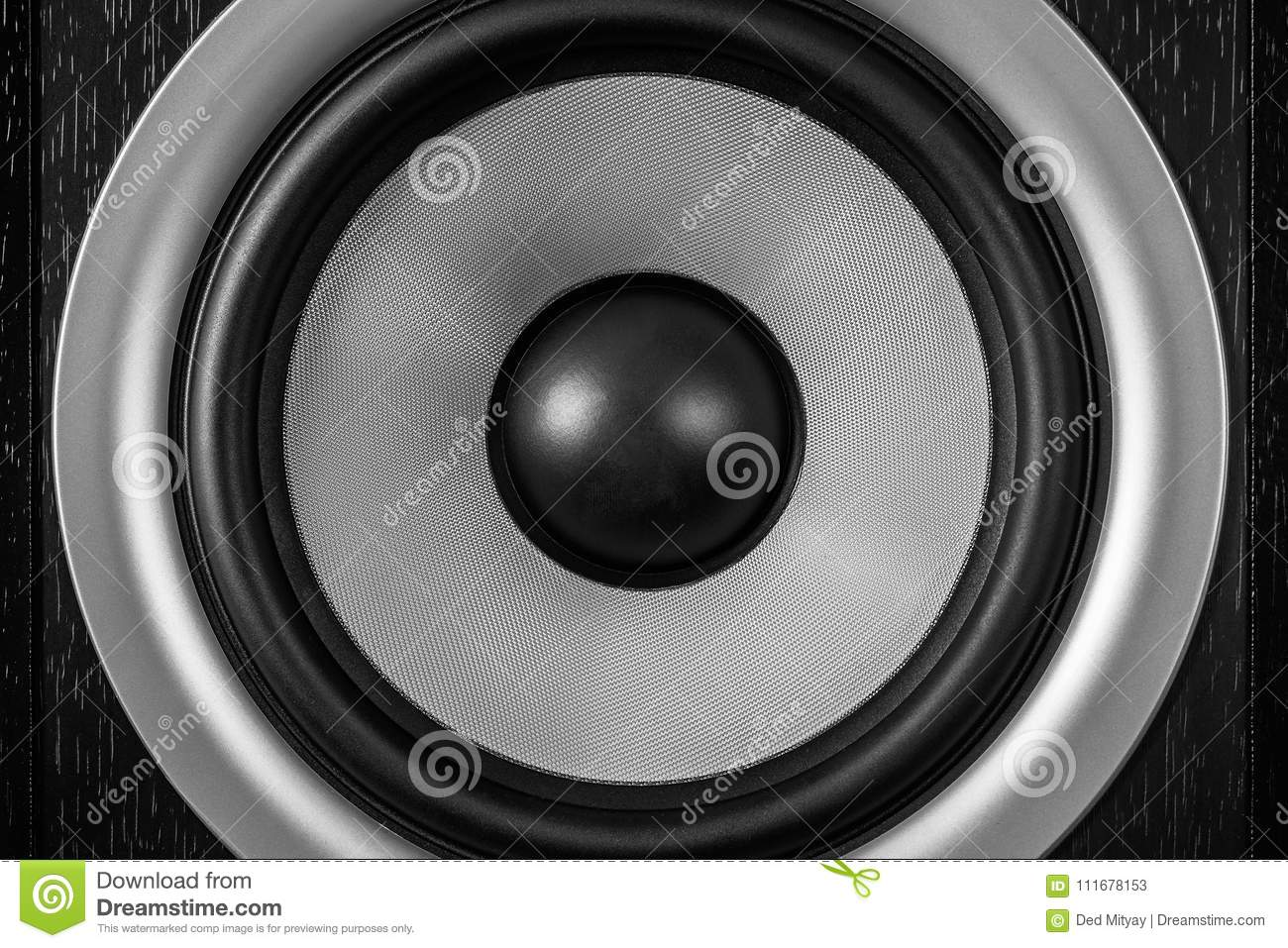 Subwoofer Dynamic Membrane Or Sound Speaker As Music Background, Hi