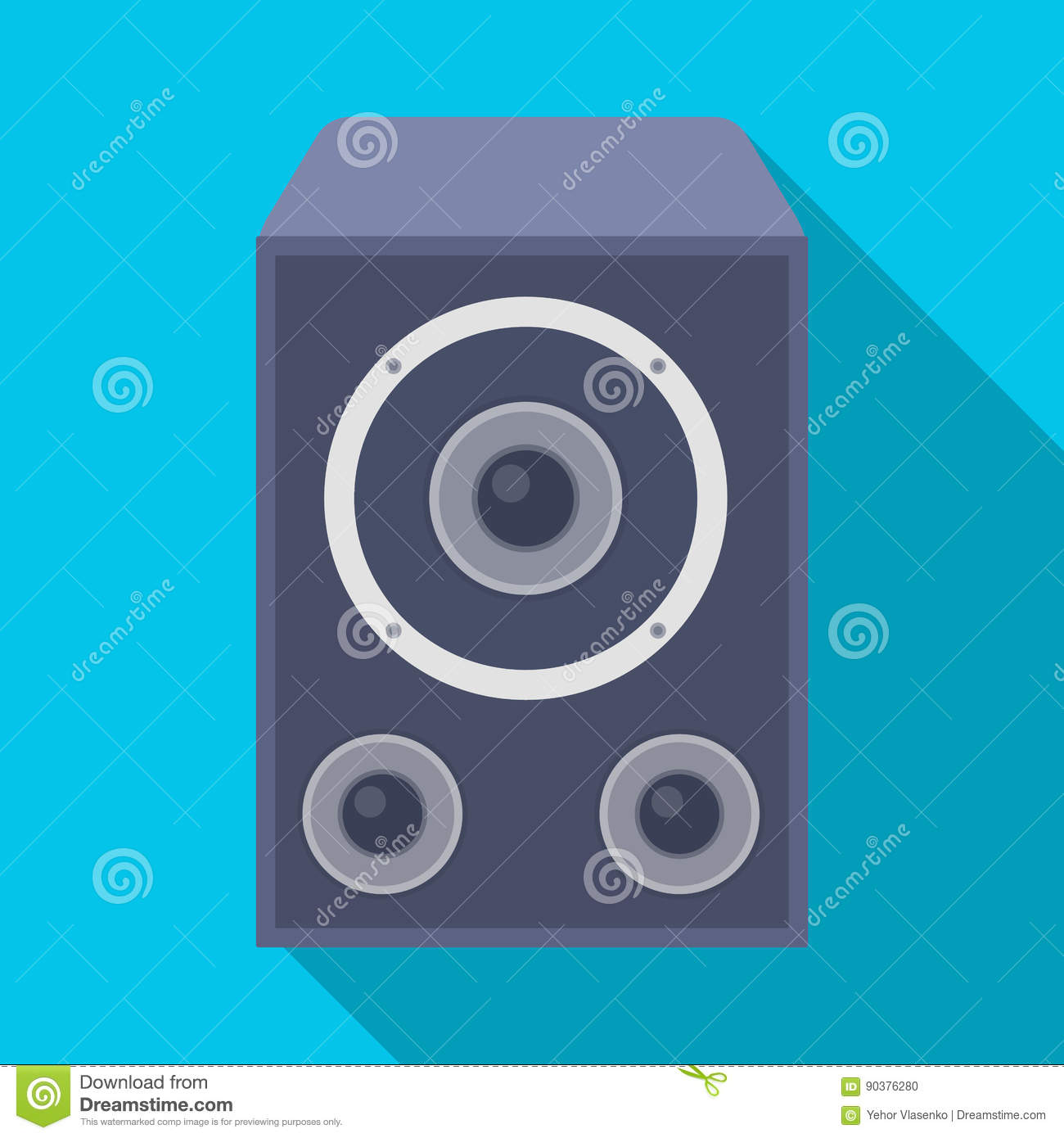 Subwoofer For Loud Musicrty And Parties Single Icon In Flat Style