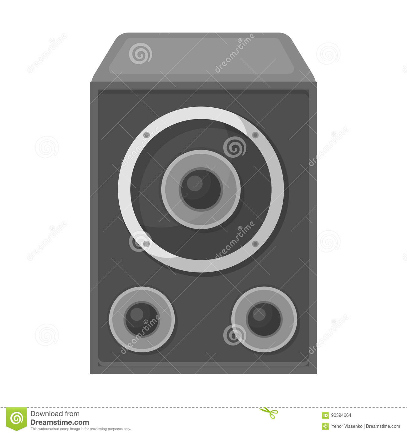 Subwoofer For Loud Musicrty And Parties Single Icon In Monochrome