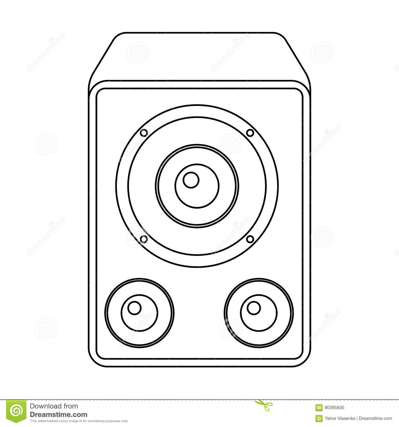 Subwoofer For Loud Musicrty And Parties Single Icon In Outline