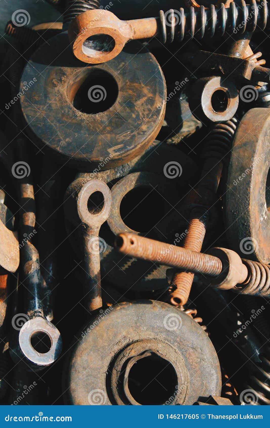 Sucata da oxidação da máquina