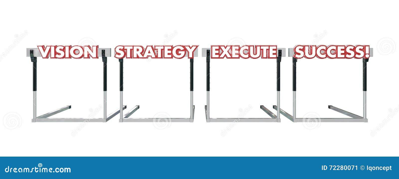 Succès d exécution de stratégie de vision sautant par-dessus des mots d obstacles