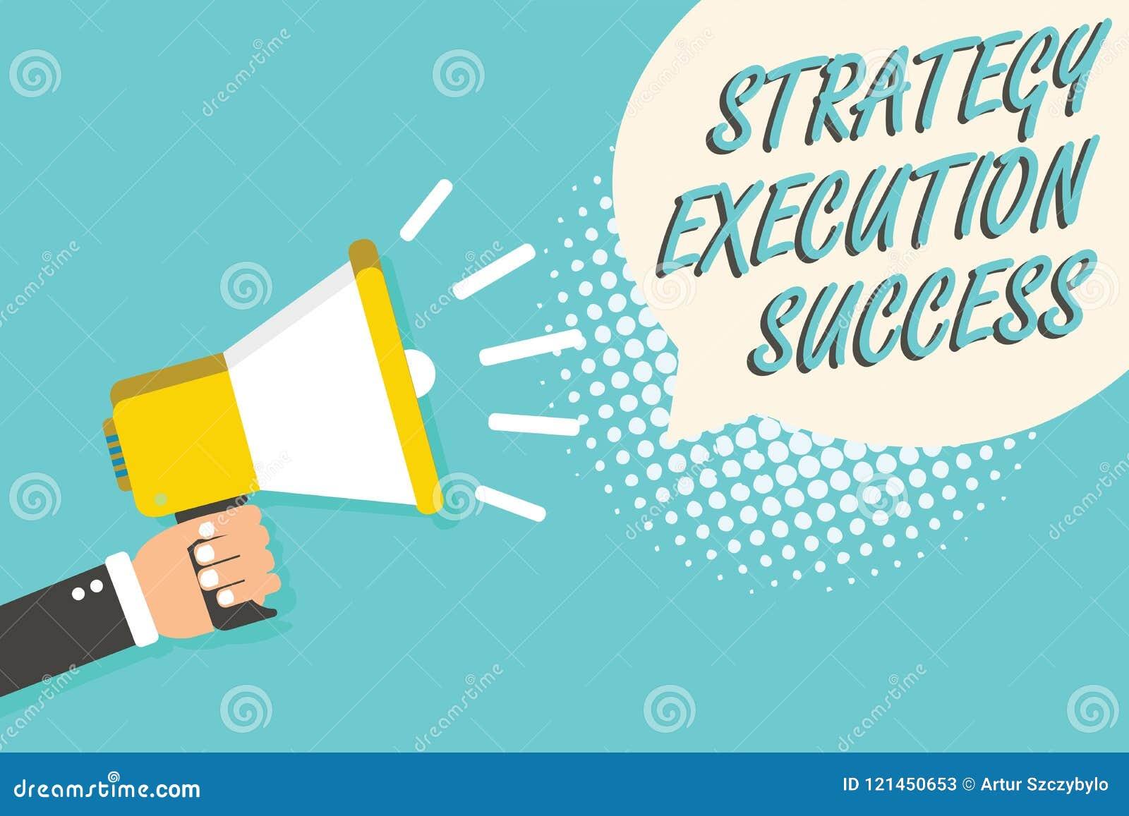 Succès d exécution de stratégie des textes d écriture de Word Concept d affaires pour mettre le plan ou la liste et début la fais