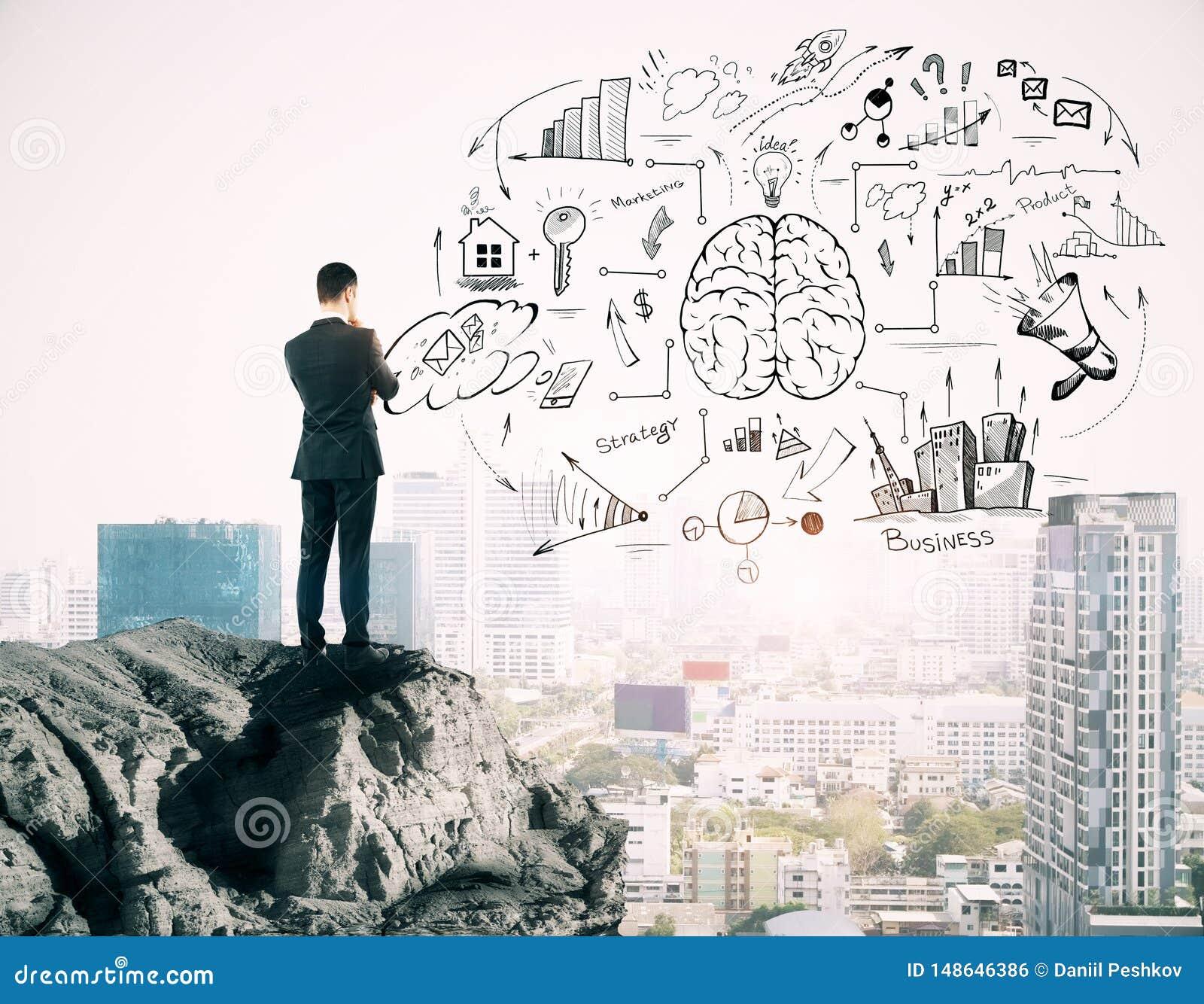 Success and brainstorm concept