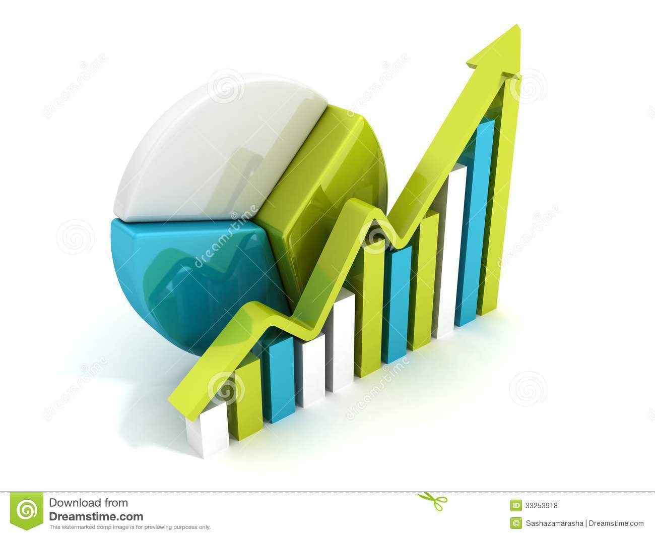 Royalty Free Stock Photos: Success business chart diagram with growing ...