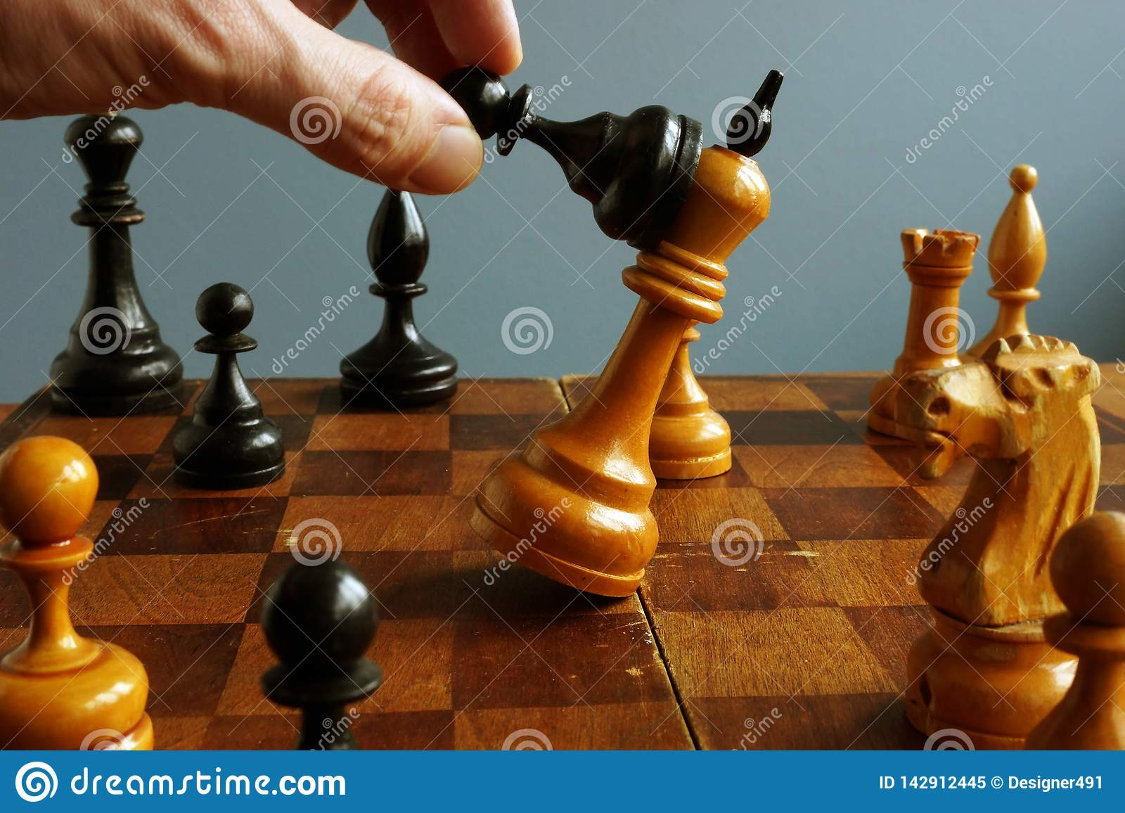 Success in business and confrontation in competition. Pawn wins king