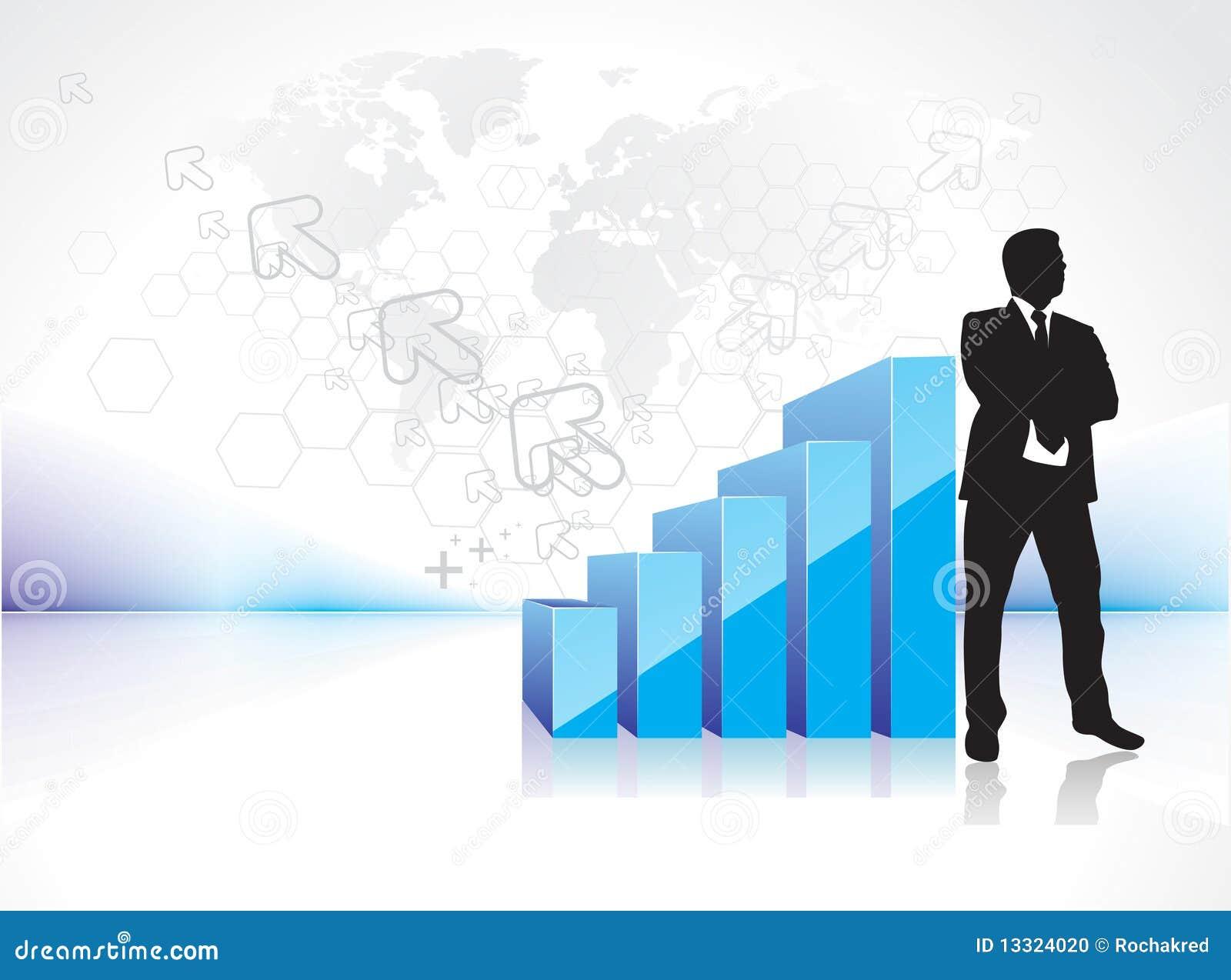 success businessman silhouette stock photo