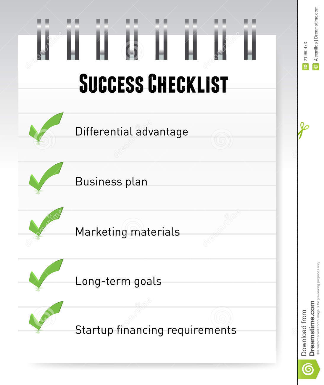 Success Checklist Notepad Illustration Design Stock Photos - Image ...