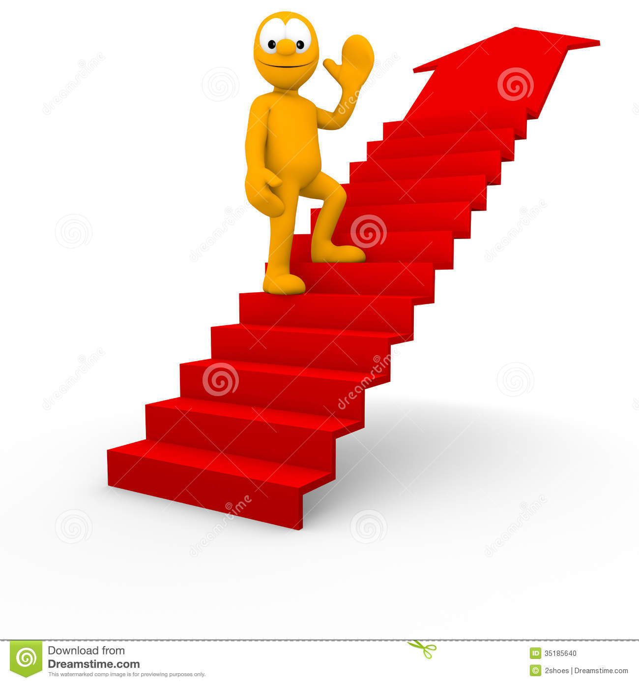 Success stock illustration. Illustration of figure, concept - 35185640 for Climbing Stairs To Success  270bof