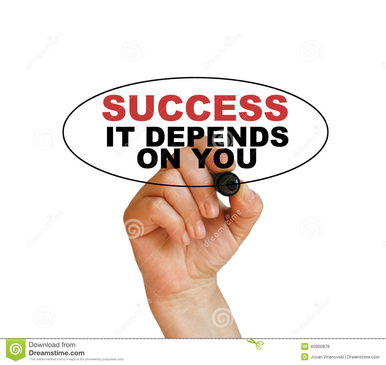 Success, It Depends On You Stock Photo
