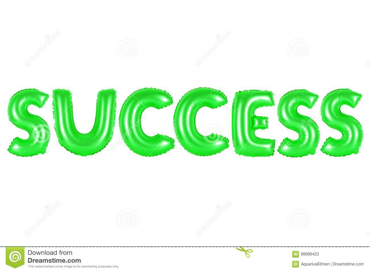Success, green color stock image. Image of alphabet, colorful - 99996423