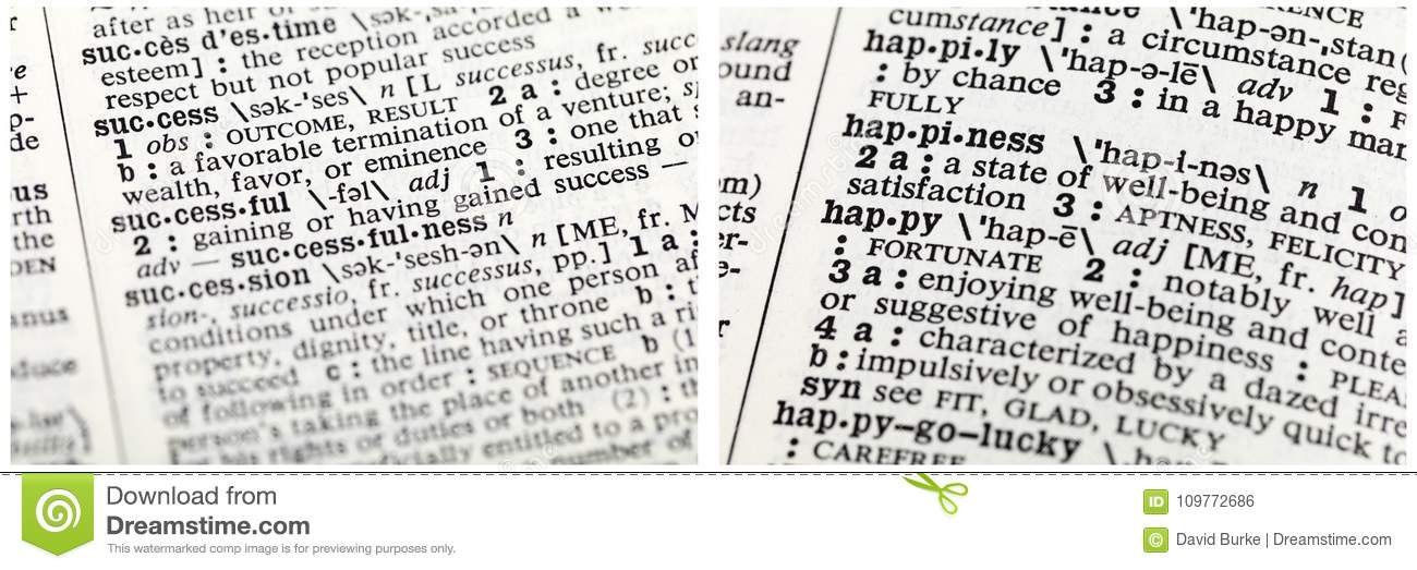 Happy Definition Of Happy At Dictionary Com >> Success Happiness Definition Message Editorial Photo Image