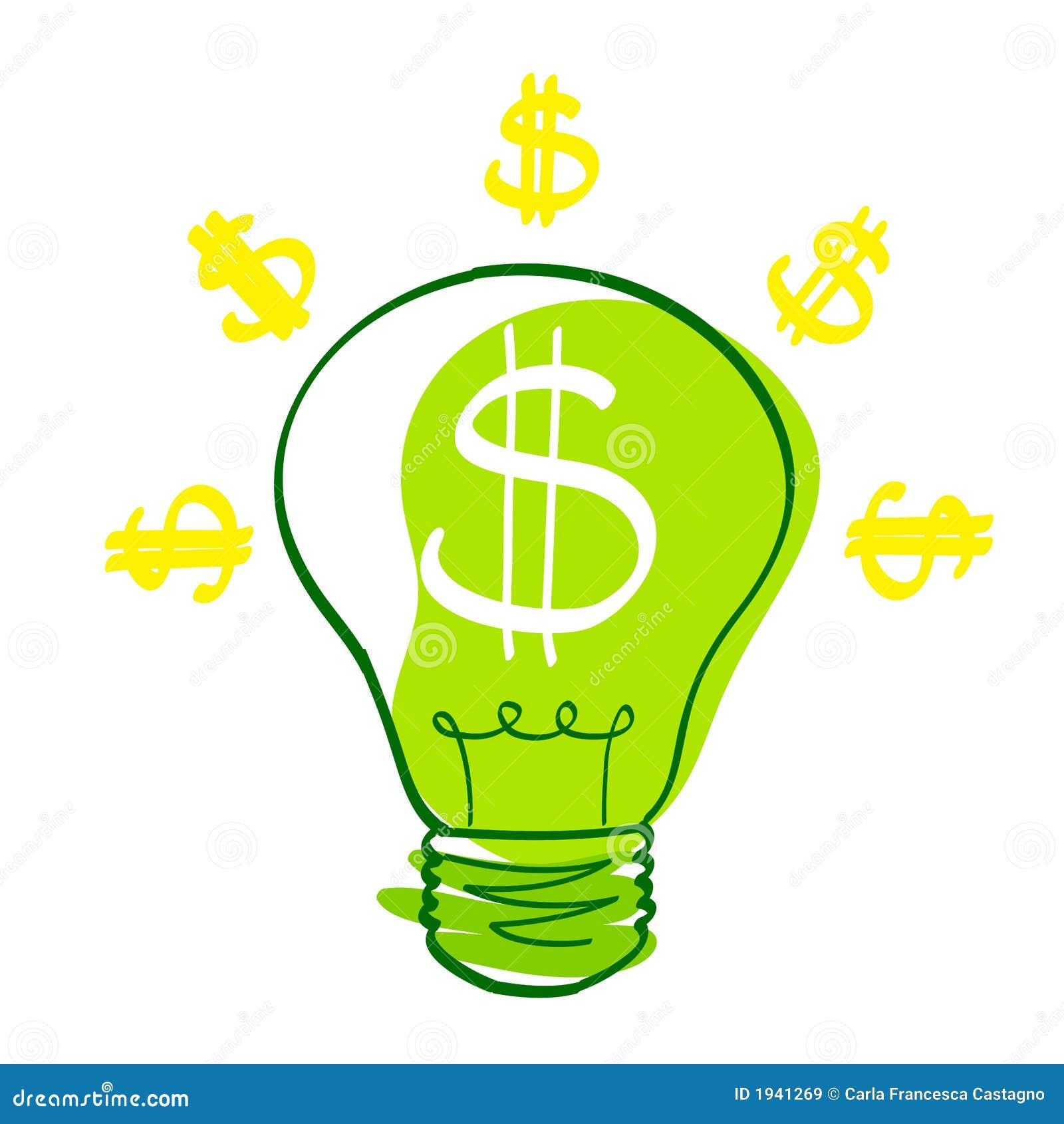 Dollar Icon Vector A bulb with dollar symbolDollar Bill Icon Vector