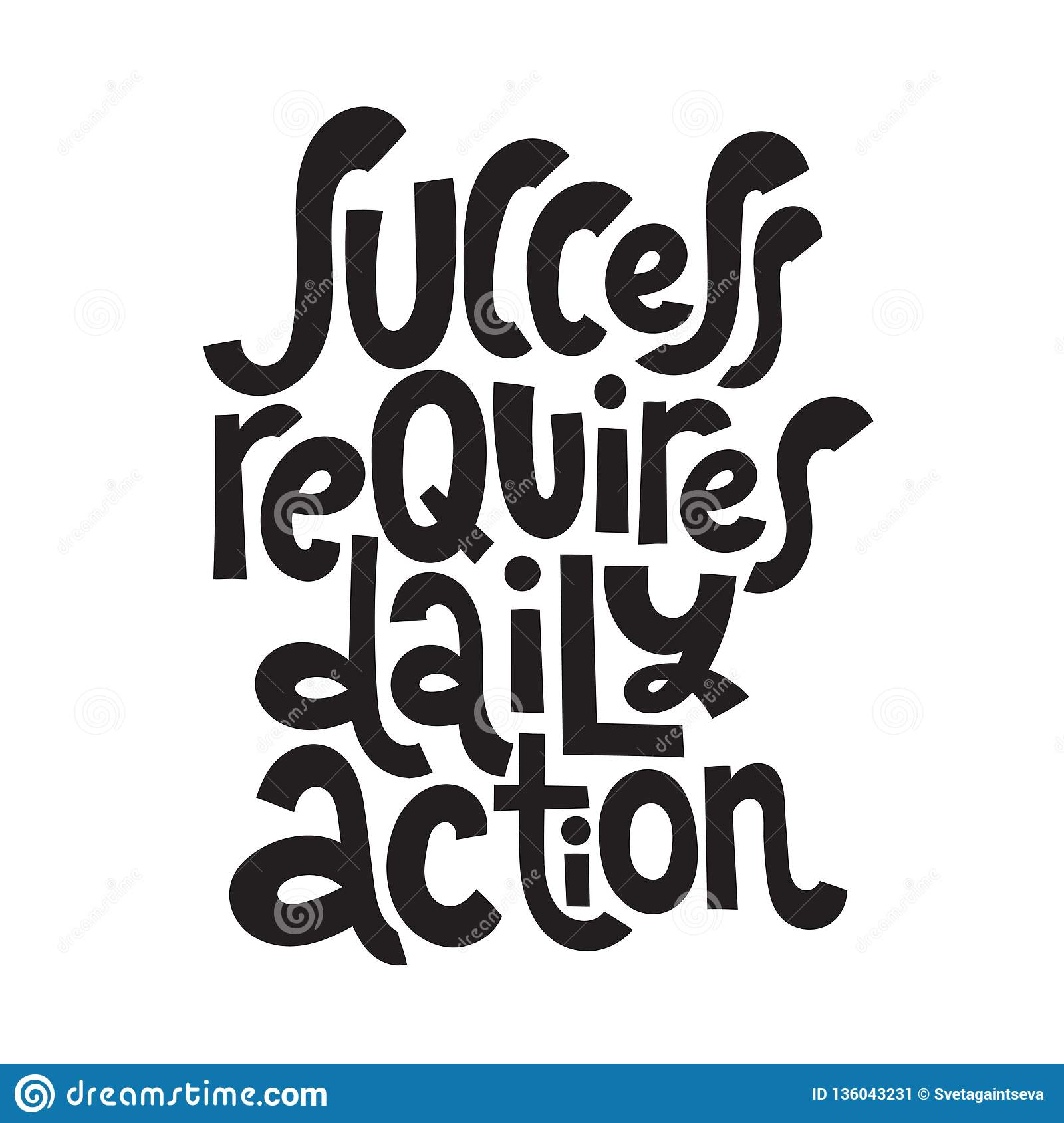 Success Motivational Quotes Stock Vector Illustration Of