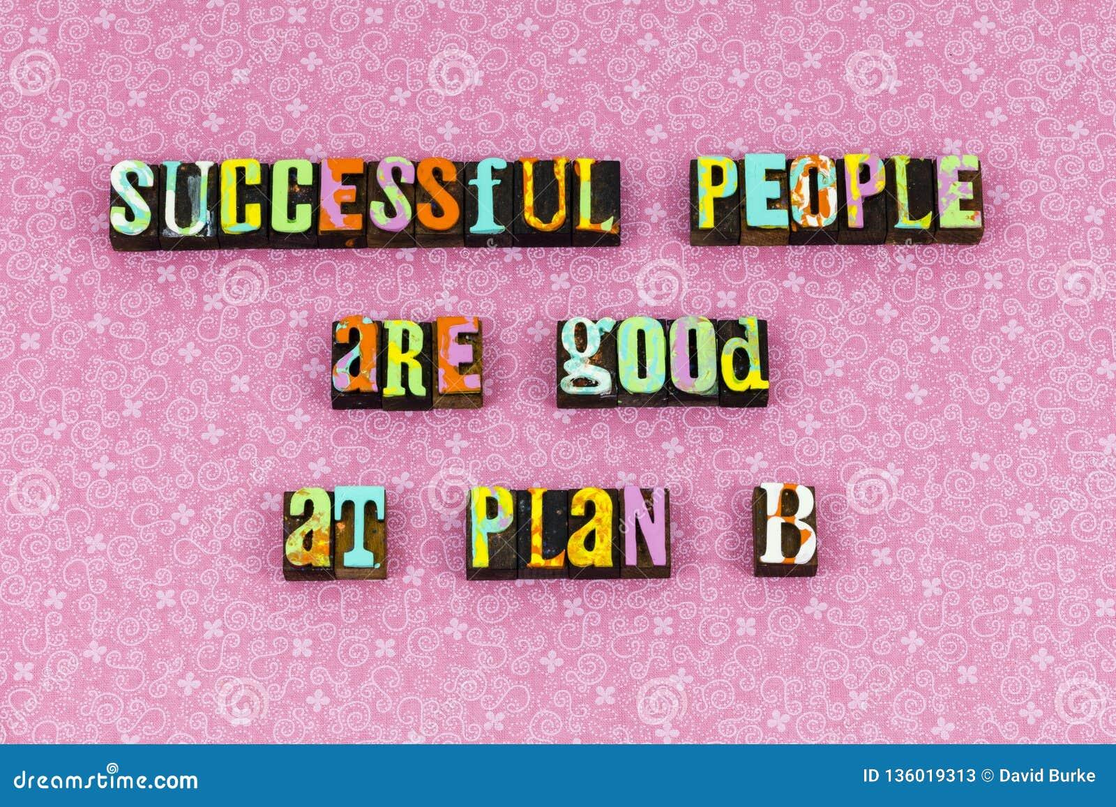 Success people plan prepare ready letterpress