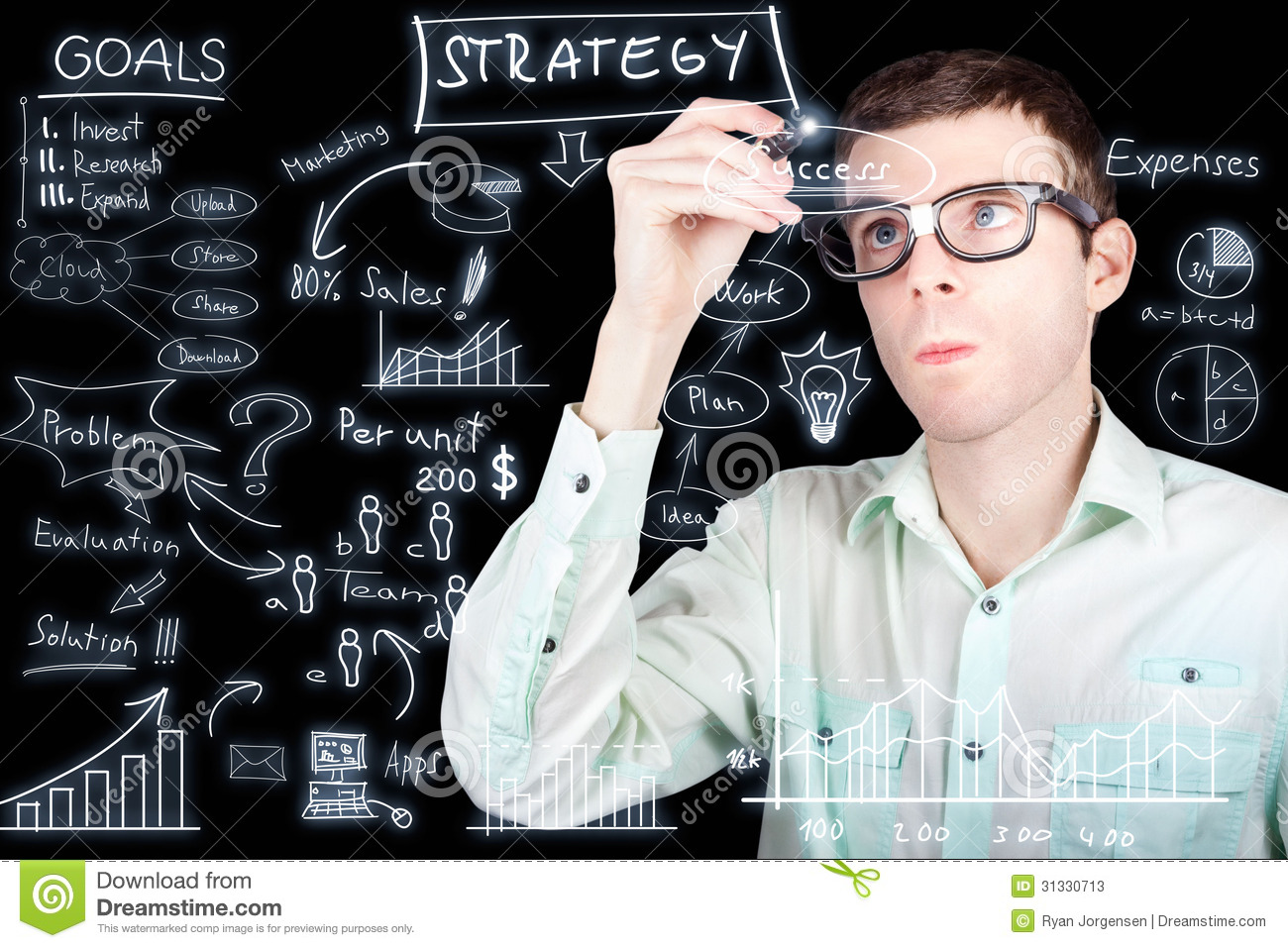 success in planning a smart business strategy stock image