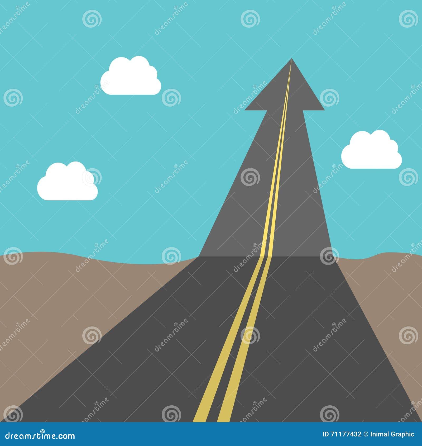 success road arrow stock vector image  success road arrow