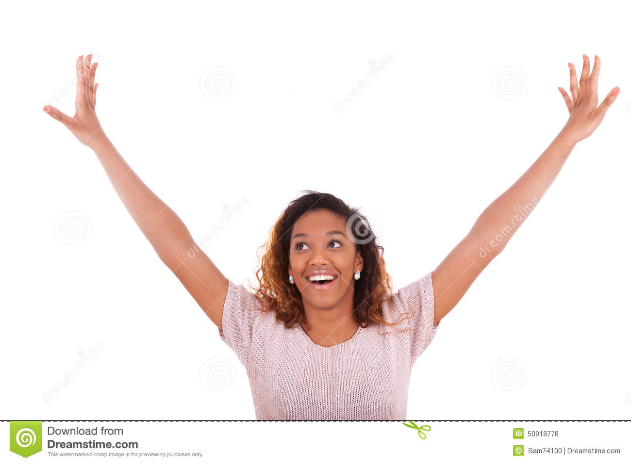 successful african american w arms up expressing her jo successful african american w arms up expressing her jo