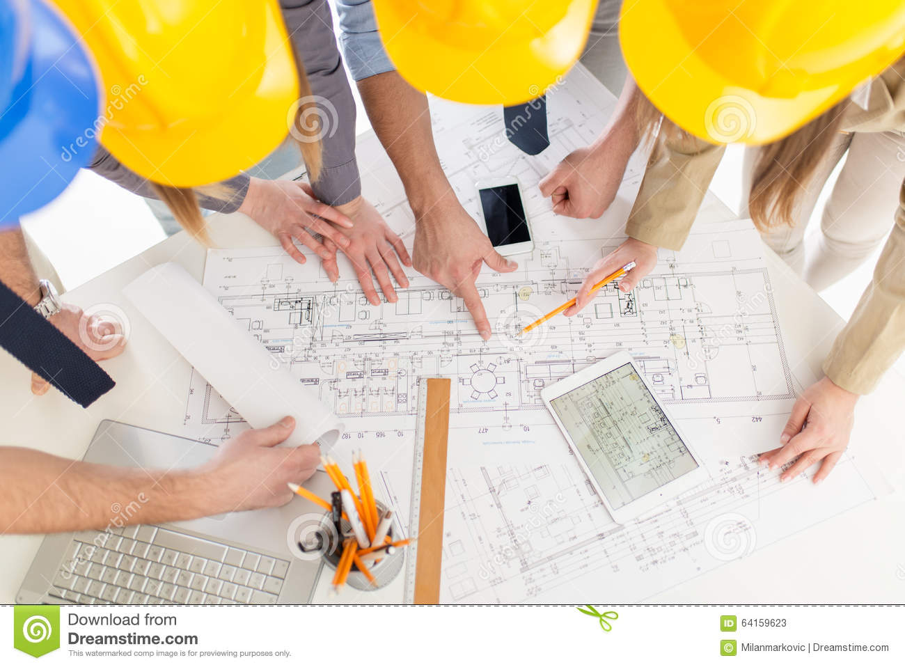 Successful Architects successful architects team stock photo - image: 64159623